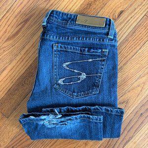 Seven7 Boot Cut Flare Embellished Pocket Jeans